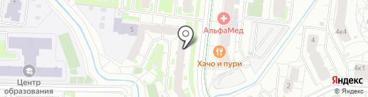 Новгородский Бекон на карте Кудрово