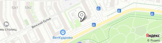 Багетто на карте Кудрово
