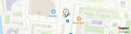 Бутерброд на карте Кудрово