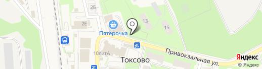 Платный туалет на карте Токсово