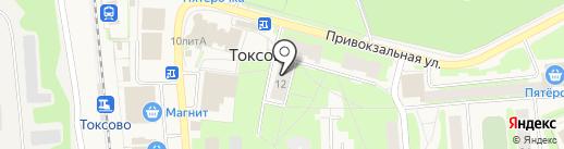 Миллар на карте Токсово