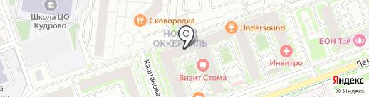 Платежный терминал, Петербургский социальный коммерческий банк на карте Кудрово
