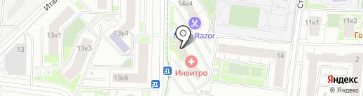 ИНВИТРО на карте Кудрово