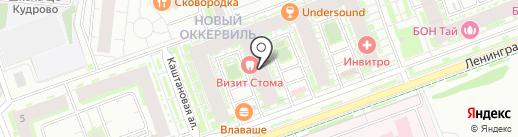 S & I на карте Кудрово