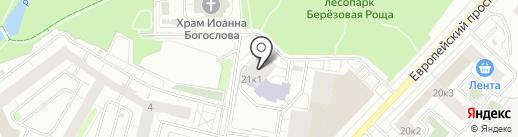 Березовая роща на карте Кудрово