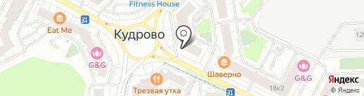 Цветовик на карте Кудрово