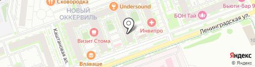 Оккервиль на карте Кудрово