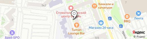 Магазин стройтоваров на карте Кудрово
