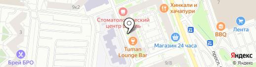 Магазин строительных товаров на карте Кудрово