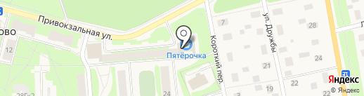 Магазин печатной продукции на Привокзальной (Всеволожский район) на карте Токсово