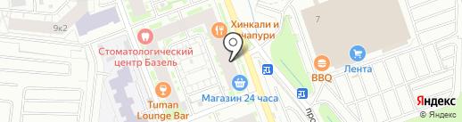 Гараж на карте Кудрово