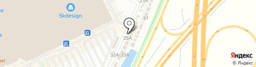 Автокомплекс на карте Кудрово