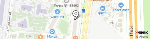 Невский стиль на карте Кудрово