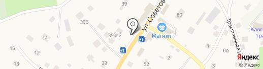 Киоск по продаже фруктов и овощей на карте Токсово
