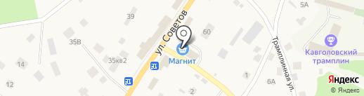 Магнит на карте Токсово