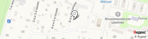 Янинский каскад 5 на карте Янино 1