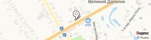 Торгово-сервисный центр на карте Великого Дальника