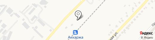 Аккаржа на карте Великодолинского