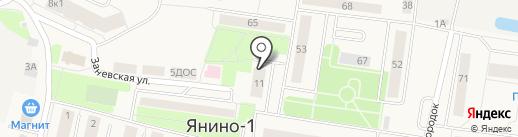 Брусничный на карте Янино 1