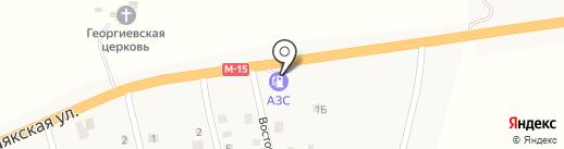 АЗС в переулке Восточном на карте Великого Дальника