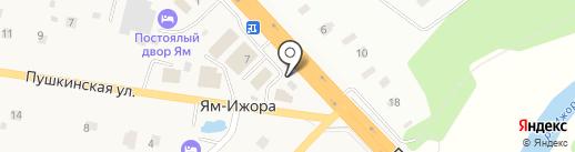 Магазин хлебобулочных изделий на карте Яма-Ижоры