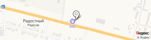 АЗС в Октябрьском 2-ом переулке на карте Великого Дальника