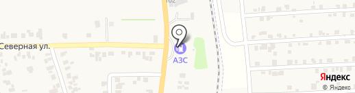 АЗС на ул. Клары Цеткин на карте Великодолинского