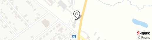 Магазин строительных и отделочных материалов на карте Новой Долины