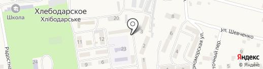 Киоск по продаже колбасных изделий на карте Хлебодарского