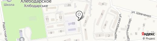 Киоск по ремонту обуви на карте Хлебодарского