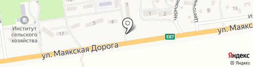 Киоск по продаже цветов на карте Хлебодарского