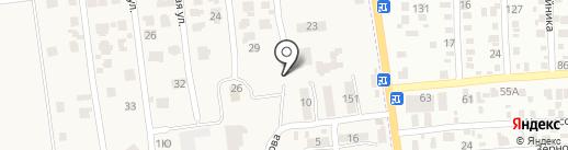 Автостоянка на Центральной на карте Авангарда