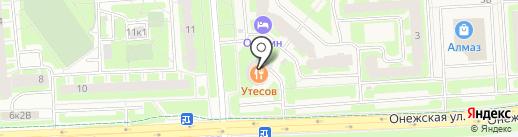 Приневское на карте Тельманы