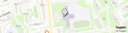 Средняя общеобразовательная школа №4 на карте Всеволожска