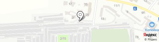 Жигули на карте Ильичёвска