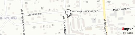 Александрийский на карте Ильичёвска
