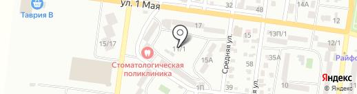 Росток на карте Ильичёвска