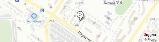 Фарватер на карте Ильичёвска