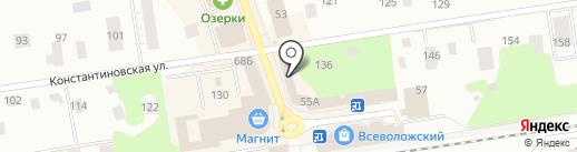 Магазин товаров для сада на карте Всеволожска