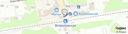 Булочная Ф. Вольчека на карте Всеволожска