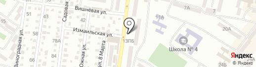 Лицей на карте Ильичёвска