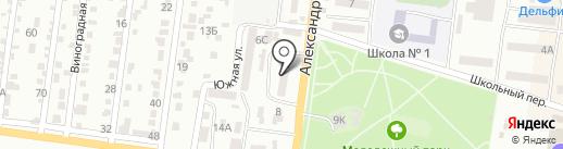 АБ Південний на карте Ильичёвска