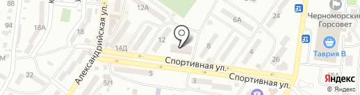 Укртикет на карте Ильичёвска