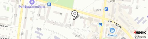 Авангард на карте Ильичёвска