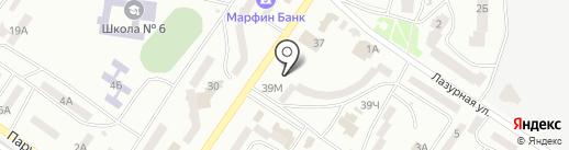 Техностиль на карте Ильичёвска