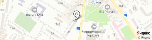 Нотариус Котик Н.В. на карте Ильичёвска