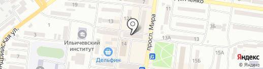 Шалунишка на карте Ильичёвска