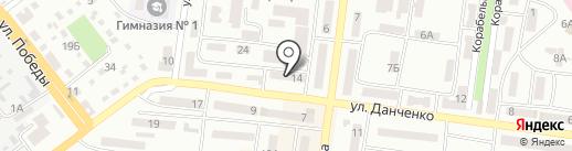 Ключ на карте Ильичёвска