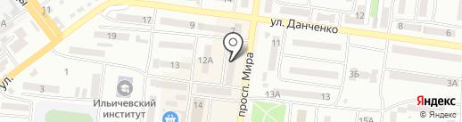 Эффект на карте Ильичёвска