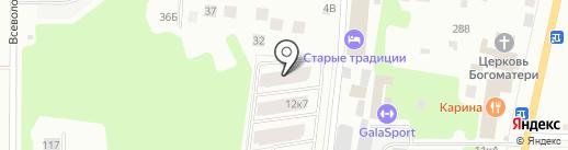 Норманн на карте Всеволожска